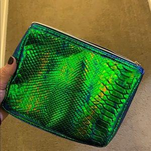 Tarte Holographic Snake Makeup clutch